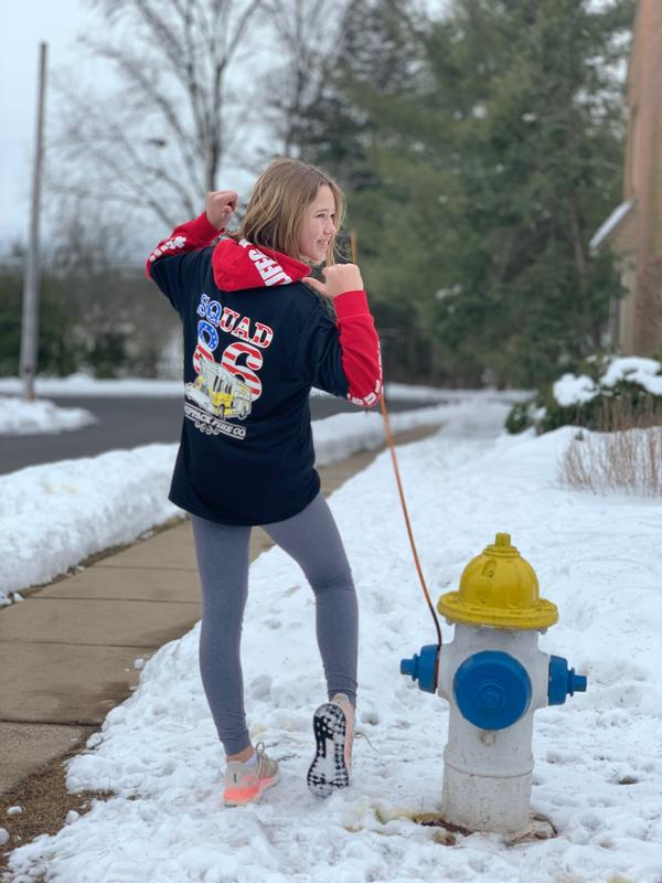 Anna and her Mom shared this photo at their hydrant and Anna in her new shirt. Thank you again.