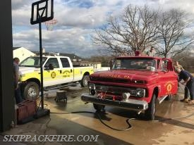 Crews return to service Utility 86 and the '64 Chevrolet Field Truck